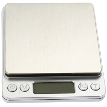 i2000 3kg 0.1g Mini Digital Scale Stainless Steel Platform Weighing Tool with Tray  - Silver
