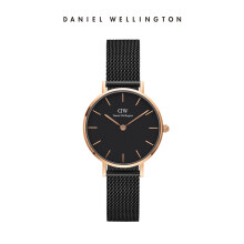 Daniel Wellington Petite Mesh Watch Ashfield Black Black 28mm