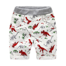 Children's shorts, cartoons, boys 'pants, dinosaur prints, linen.