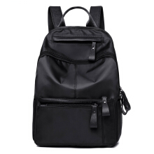 KVKY Korean version of nylon Oxford canvas backpack Black