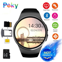 PEKY KW18 Bluetooth smart watch full screen Support SIM TF Card Smartwatch Phone Heart Rate for apple gear s2 huawei xiaomi