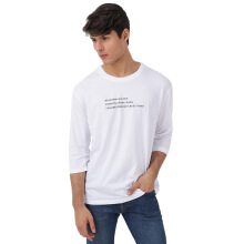 FACTORY OUTLET UG1802-0009 Mens T-Shirt With Print - White