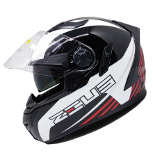 ZEUS ZS-813 - Helm Full Face - Black AN9 Red