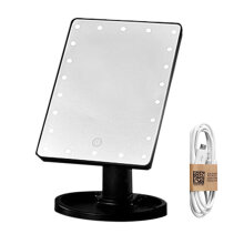TOWER PRO USB 22LED Make Up Mirror Desktop Portable Travel Countertop Makeup Black