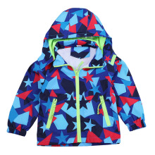 SiYing children's jacket boy print hooded zipper windbreaker jacket