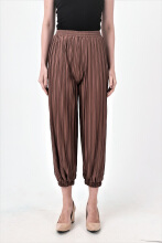 Akeira Jogger Pleats Pants Fit to XXL Brown All Size