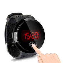 PEKY Fashion unisex sports watch LED touch screen date silicone wrist men watch sports Relogio Masculino