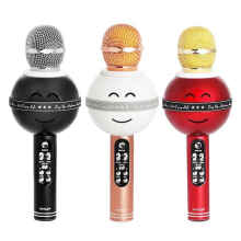 Mic & Speaker Bluetooth Karaoke KTV Wireless Microphone Smiley WS-878