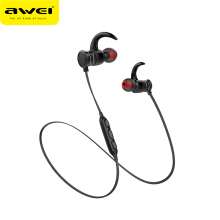 Blitzwolf AWEI AK5 Bluetooth Earphone Wireless In-ear Sports Earphones With Magnetic Controller Headset Blutooth Earphone for Smartphones Red