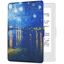 Pottery fit Kindle 558 version of the protective cover / shell painting series new Kindle e-book sleeping leather white - Van Gogh Star