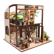 Jantens DIY Doll House Furniture Miniature For Dollhouse Light Wooden House For Dolls Toys For Photo Color