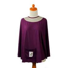 MERE ET MOI Apron O - Dark Purple [All Size]
