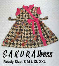 Welans Batik Kebaya Anak Sakura Dress LP13