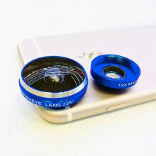 Mobile Phone Lens 235 Degrees Fish Eye Micro Lens Two In One E-jingtou007