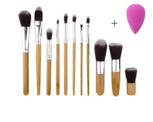 MMIOT 11Pcs Makeup Eyeshadow Foundation Concealer Brushes Sets+ Sponge Blender Puff