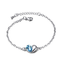 【Global Top Mall】Gelang Hati Cinta Hati Fashion Silver