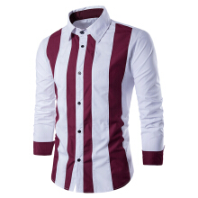 Fashionmall Contrast Vertical Stripe Button Up Shirt