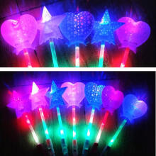 Farfi Magic Luminous Star LED Glow Stick Flashing Light Up Wand Party Concert Toy Random Color