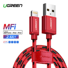 UGREEN 100cm Lightning Cable Fast Charge for Apple iPhone 8/8 Plus, iPhone 7/7Plus 5S 5C 5, iPad Air, iPad mini mini2 Charging Cord MFI Red
