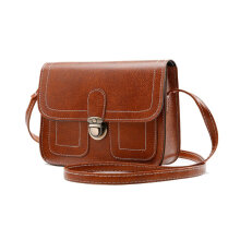 [LESHP]Vintage Soft PU Leather Women Ladies Single Shoulder Bag Crossbody Red