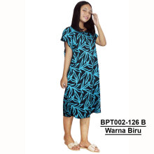 Batik Alhadi - (BPT002-126) - Dress Midi - Motif Bunga - All Size