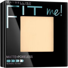 Maybelline Fit Me Matte + Poreless Powder Bedak Padat Two Way Cake - 120 Classic Ivory