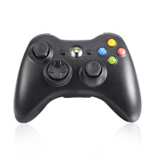 COZIME Bluetooth Gamepad Wireless Joystick Handle Game Controller for Xbox 360 PC Black