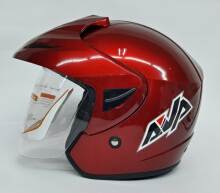 AVA Cruiser Helm Half Face - Red Marron Maroon L