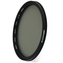 Zomei 55mm Ultra Thin CPL Circular Polarizer Glass Filter Lens  - Black