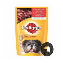 PEDIGREE 130 gr adult beef chunks in sauce