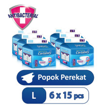 CERTAINTY Value Pack Size L Carton 6 Bag x15 Pcs