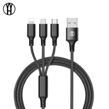 WH Micro USB Cable Type-C 8pin 3 2 in 1 For iPhone 7 6 6S Plus iOS 10 9 8 Android Xiaomi LG Cable Fast Charger Cables