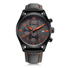 Quartz watches Men's Watch OCHSTIN 043B Luminous Men Watch Chronograph Male Watch Luxury Sports Watch hitam