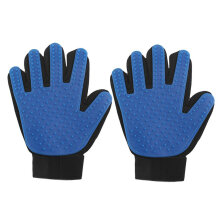 [kingstore]Practical Dogs Cats Home Pet Efficient Massage Comfortable Grooming Gloves Blue Blue Right Hand