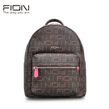 FION Cow Leather & PVC Backpack - Brown & Pink Brown