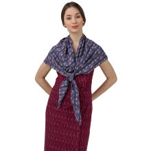 IKAT Indonesia Purple nayara Scarf Purple