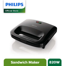 PHILIPS Sandwich Press HD2393 - Hitam