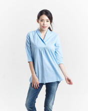 Miyoshi josei MJ17BL021PN Fancy Blouse Light Blue