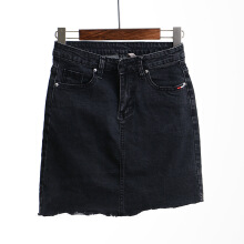 Jantens Autumn mini skirt women casual skirt black with knee denim