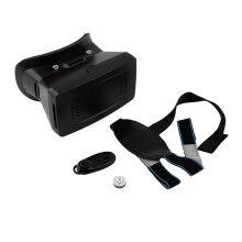 COZIME 3D Virtual Reality VR Video Glasses Cardboard +Bluetooth Gamepad Control Black