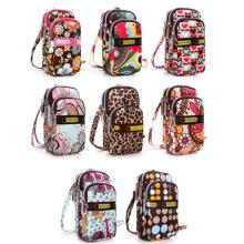 Farfi Cute Printed Phone Case  Shoulder Strap Wrist Sports Bag Pouch Mini Coin Wallet as the pictures