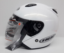 INK Centro Helm Half Face - White Metalik (M)
