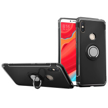 RockWolf Xiaomi Redmi S2 case silicone metal ring shell magnetic bracket soft shell
