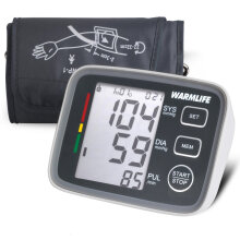 U80EH Arm Blood Pressure Monitor Sphygmomanometer Portable Digital Tonometer Grey