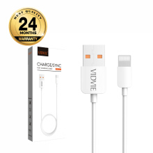 VIDVIE Iphone USB Cable CB412-2 200cm / Kabel Data / Fast Charging - White