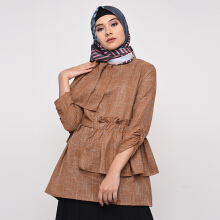NAFEESA TOP Altaira Tunik  Brown Allsize Brown All Size