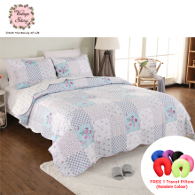 VINTAGE STORY Shabby Bed Cover Set Korea Size King 220x240 cm/A02B220