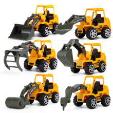 Jantens 6PCS Diecasts Set 1:64 Alloy Model Car Suit Army City Fire Engine Baby Children Toy Yellow