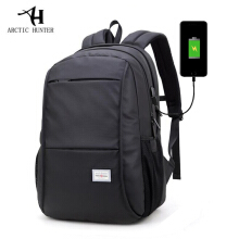 Arctic Hunter WR-USB Tas Ransel Laptop Premium Executive Winter Oxford Backpack - Hitam
