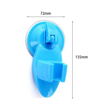 [OUTAD] Strong Suction Cup Shower Fixing Base Head Holder Bathroom Accessories Blue